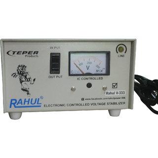 Rahul V-333 a 600 VA/2 AMP 100-290 Volt 1 Refrigerator 90 Ltr to 185 Ltr 5 Step Auto Matic Voltage Stabilizer