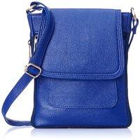Style Loft Leather Blue Sling Bag Cross Body For Love B