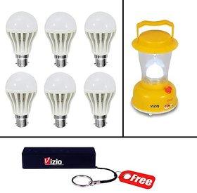 Combo Of 12 Watts Led Bulb(Set Of 6) And Emergency Light