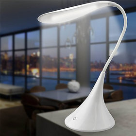 Homes Decor Touch Control With Inbuilt Rechargeable battery LED Swan Table Lamp