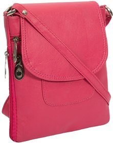 Style Loft Leather Pink Sling Bag Cross Body For Love B