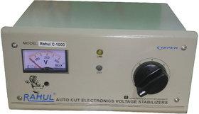 Rahul C-1000 a 1 KVA/4 AMP 90-260 Volt Shop  Desert Cooelers/Main Line Autocut Voltage Stabilizer