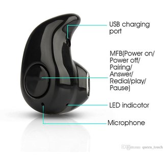 Vivo Y21L Compatible Mini Style Wireless Bluetooth In-Ear V4.0 Stealth Earphone Headset By GO SHOPS