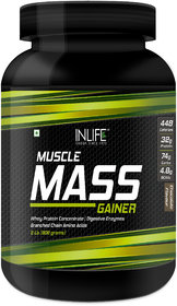 INLIFE Mass Gainer Powder For Muscle  Weight Gain( Chocolate Flavor,2 lbs/(908 grams))