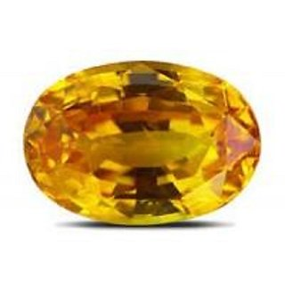8.75 ratti 100 best quality yellow sapphire by lab certified