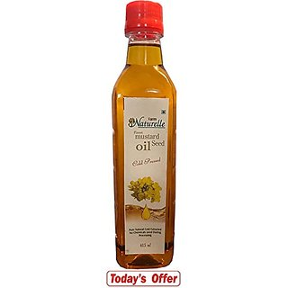 Farm Naturelle-1 Virgin Cold Pressed Kachi Ghani Mustard Oil (415Ml)
