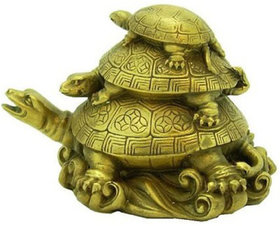 SAHAYA  3 Tier FengShui Tortoise for Longevity, Wealth  Prosperity, Home Decorative, Paper Weight, Gift