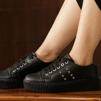 Trendy Look Black  Gold Sneakers