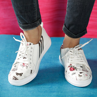 d00c49c0a71 Buy Vendoz Women White Casual Shoes Online   ₹499 from ShopClues