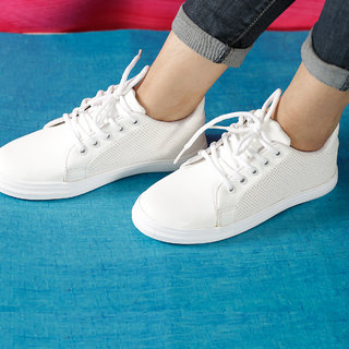 Vendoz Women'S White Smart Casuals
