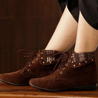 Trendy Look Brown Fur Casual Boots