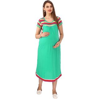 Vixenwrap Seafoam Green Striped Maternity Dress