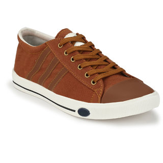 Baton Men's Rust Lace Up Sneaker Shoes