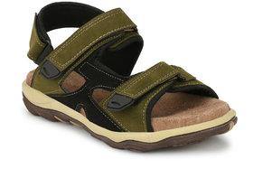 Men's Olive Velcro Sandals