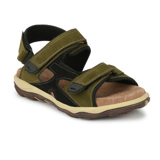 Baton Men's Green Velcro Outdoor Sandals