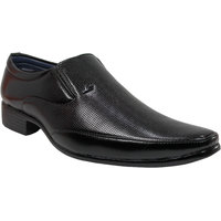 Footsteps Black Color Slip On Formal Shoe For Men