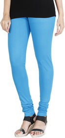 HRINKAR LIGHT BLUE Soft Cotton Lycra Plain leggings for girls Size - L, XL, XXL - HLGS1523-XL