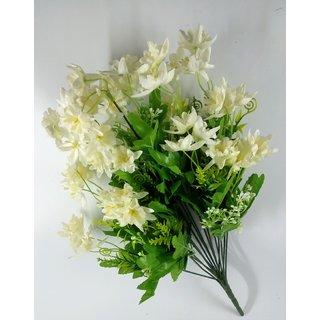 S N ENTERPRISES sn4916 white Poinsettia