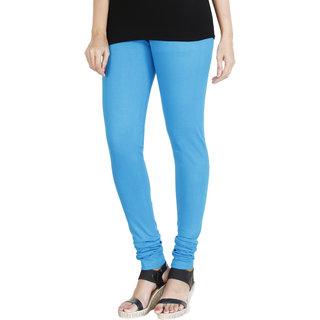 HRINKAR LIGHT BLUE Soft Cotton Lycra Plain leggings for girls Size - L XL XXL - HLGS1523-XL