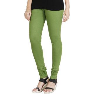HRINKAR LIGHT GREEN Soft Cotton Lycra Plain girls leggings Size - L XL XXL - HLGS1524-L