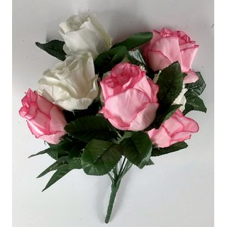S N ENTERPRISES sn4888 pinkNwhite Rose