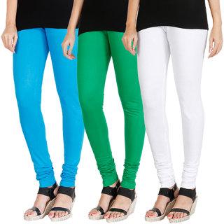 b54db078b Buy HRINKAR LIGHT BLUE LIGHT GREEN WHITE Soft Cotton Lycra Plain girls  leggings combo Pack of 3 Size - L, XL, XXL - HLGCMB0190-XXL Online - Get  61% Off