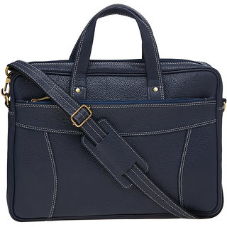 2a788c749bf7 Leather World 9 Liter Blue Color Genuine Leather   Office bag For Men- 15.6  inch