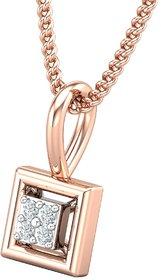 Diamond Pendant 0.02 CT / 0.39 gm 18k Rose Gold-JPT1856