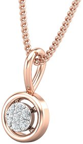 Diamond Pendant 0.03 CT / 0.45 gm 18k Rose Gold-JPT1855