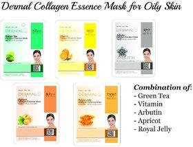 Oily Skin Collagen Mask 5 Pack