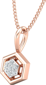 Diamond Pendant 0.04 CT / 0.38 gm 18k Rose Gold-JPT1858