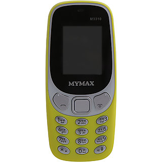 Mymax M3310 Dual Sim Feature Phone Yellow Colour