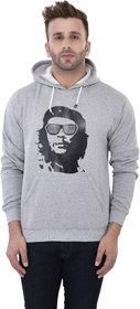 Weardo Men's Stylish Man Printed Grey Hooded Sweatshirt