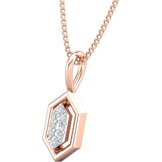 Diamond Pendant 0.04 CT / 0.46 gm 18k Rose Gold-JPT1859