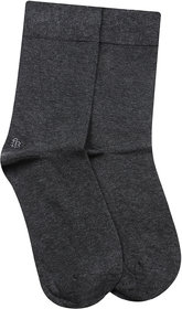 Bonjour Odour free plain Socks in 10 colors for Men with Bonjour logo -Anthra