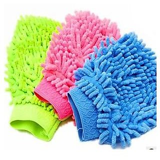 Microfiber Cleaning Glove Dusters (Set Of 3 Pcs)
