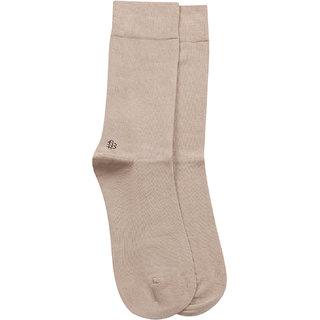 Bonjour Odour free plain Socks in 10 colors for Men with Bonjour logo -beige