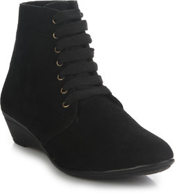 Do Bhai Women's Black Boots