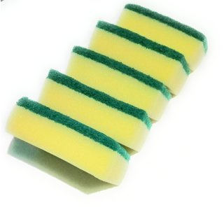 Scrub  pad Sponge 2in1, with sponge, (set of 5) Special adhesive for a long lasting sponge and scrub