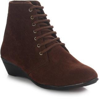 Do Bhai Womens Brown Boots