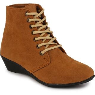 Do Bhai Womens Tan Boots