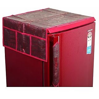 KD pvc Unique Fridge Top Cover 1 Pc. ( Maroon)