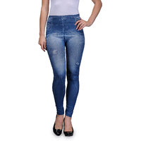 Oleva Blue Star Denim Look Jegging