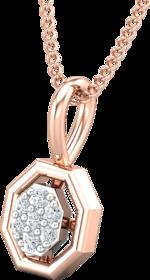 Diamond Pendant 0.04 CT / 0.40 gm 18k Rose Gold-JPT1861