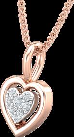 Diamond Pendant 0.04 CT / 0.47 gm 18k Rose Gold-JPT1862