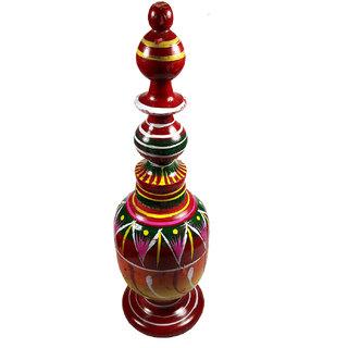 Wooden Handmade Red Long Sindoor Box/SINDHORA-22x6x6 CM