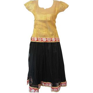 67f721421 Buy 7 8 Years SAAS Girls Traditional ethnic wear Net silk Pattupvada ...