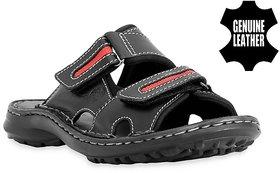 MyWalk Mens Black Velcro Sandals