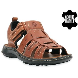 7f89566337a7 Buy MyWalk Mens Tan Velcro Sandals Online - Get 50% Off
