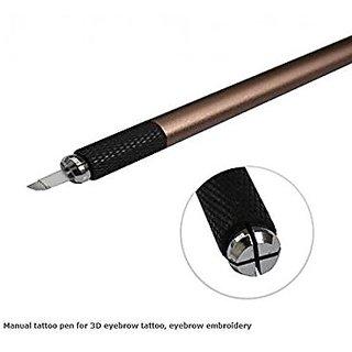 Goochie Manual Tattoo Permanent Makeup Pen And manual Pen Blade (Manual Blade Pen)